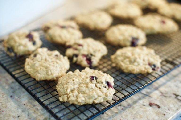 Amazing Blueberry Oatmeal Cookies