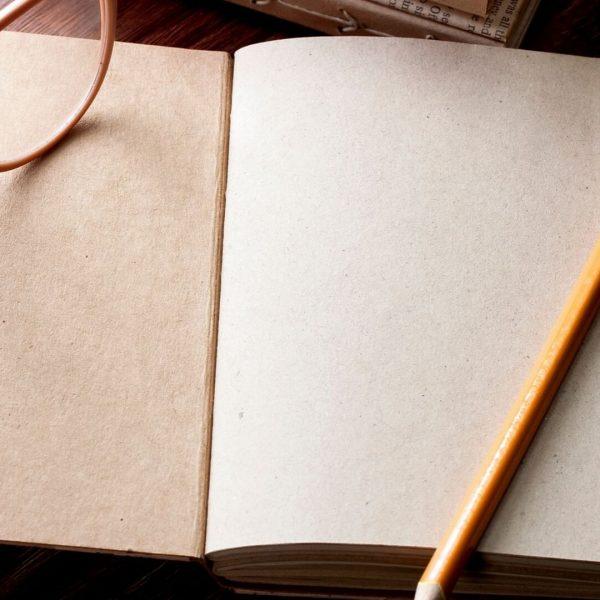 Open blank journal