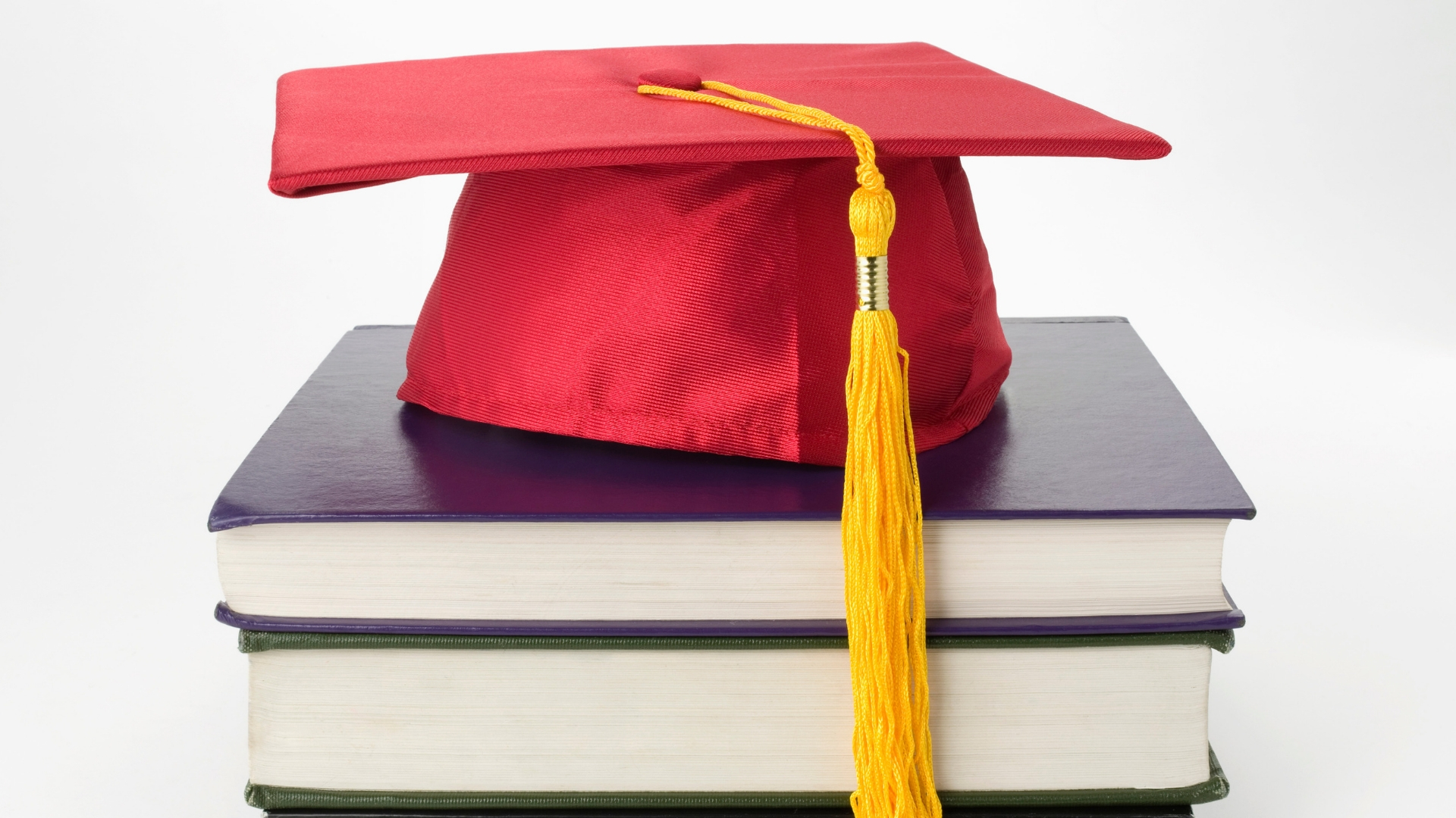 books and graduation cap
