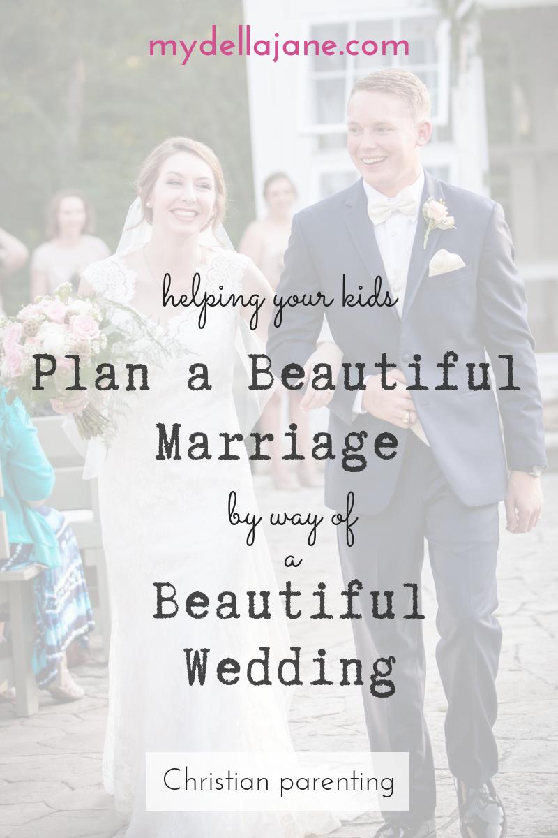 Helping your kids plan a beautiful wedding
